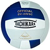 Tachikara SV5WSC.NWSL Sensi-Tec Composite High Performance Volleyball - Navy-White-Silver Gray