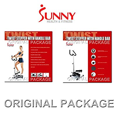 Sunny Twister Stepper with Handle Bar by Sunny Health & Fitness