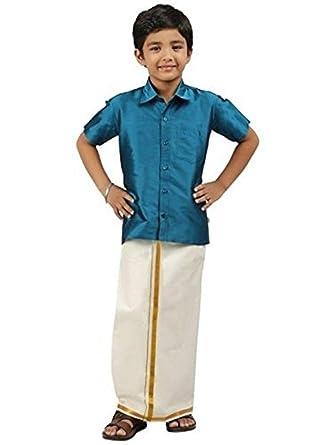 537aa1ed701 Cellora Little-Stars-Indian-Kids-Dhoti-Shirt-Set-Boys-Kurta-Ethnic-Wear-Designer  at Amazon Men s Clothing store