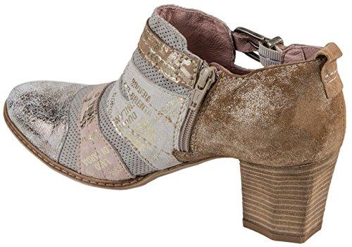 Charme Zapatos de Vestir de Piel Para Mujer Multicolor Weiss/Rosè/Gold