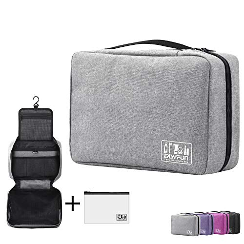 Hanging Toiletry Bag For Men & Women | Large Travel Toiletry Bags With Hook | TSA Approved Clear Toiletry Bags Kit Organizer
