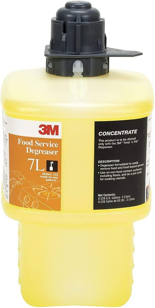 3m 7l Food Service Degreaser, Size 2l, Yellow