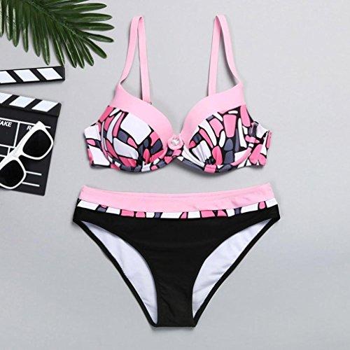 Imbottito Reggiseno Set Da Costumi Bikini Imbottito donna Rosa Bikini ShallGood Sexy Spiaggia Con Push Bikini Da E Donna Sportivi Beachwear Striscia Up Bagno Bikini Boemia a5B6qw