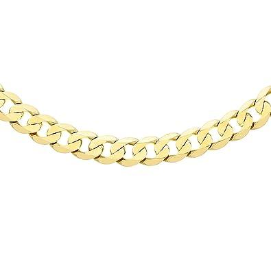Carissima Gold 9ct Yellow Gold 35 PG Diamond Cut Curb Chain of 41cm m2cmjnmIKl