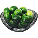 "The Iconic Modern Wire Mesh Fruit Bowl, Museum Style, Medium, 9 1/2"", Powder Coated Iron, By Whole House Worlds"