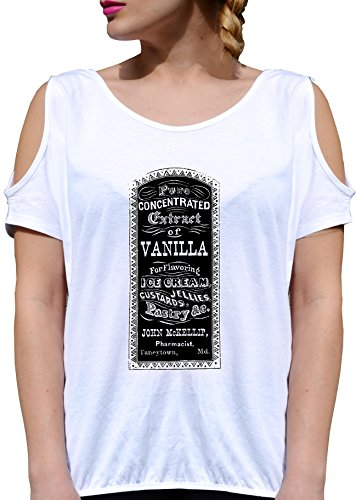T SHIRT JODE GIRL GGG27 Z1748 BILLBOARD VANILLA ICE CREAM AMERICA VINTAGE FUN FASHION COOL BIANCA - WHITE M