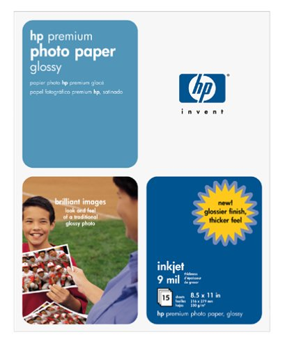 Premium Single Sided Photo Paper (HP Premium Photo Paper, Glossy (15 Sheets, 8.5 x 11 Inches))