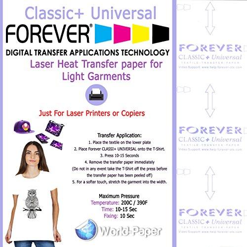 (Forever Heat Transfer Paper Classic+ Universal Premium Laser Transfer for Light (8.5