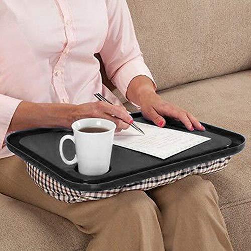 Celendi Lap Desk for Laptop Chair Student Studying Homework Writing Portable Dinner Tray (Black)