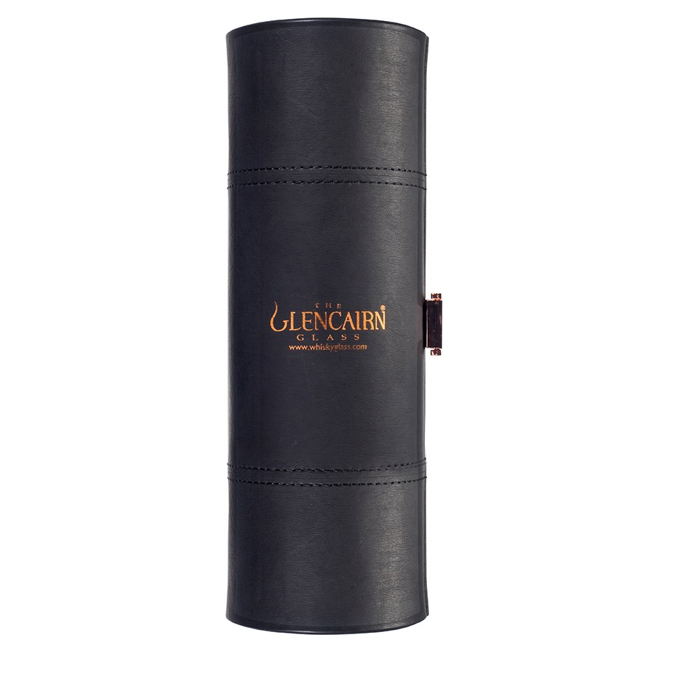 The Glencairn Glass Leather Travel Set with Two Whisky Tasting / Nosing Glasses