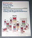 Winchester Ball Powder Loading Data for Shot Shells, Center Fire Rifle and Pistol Cartridges, 1980 Reloading Components, Catalog with Suggested Retail Price