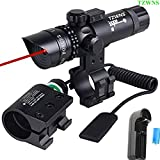 TZWNS Red Dot Scope 3 Modes Zoomable Laser Sight Scope With Free 20mm 2 Mounts Base Switch Tactical Power 532nm Laser Beam Battery Charger Include