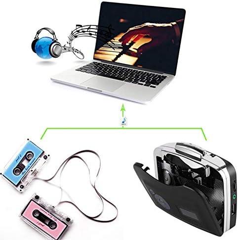USB Cassette Capture Cassette Tape-to-MP3 Converter Into Computer Stereo HiFi Sound Quality Mega Bass