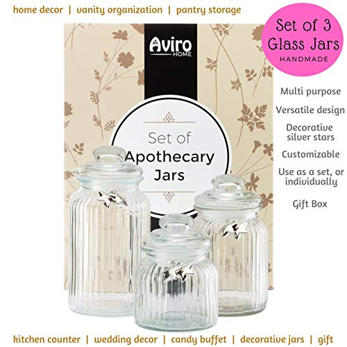 glass apothecary candy jars - 9