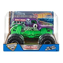 Hot Wheels Monster Jam Grave Digger Truck, Purple