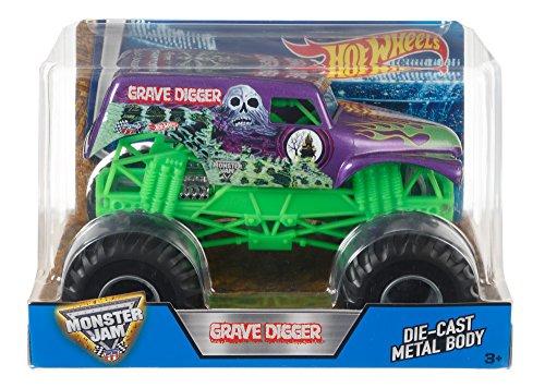 Monster Truck Grave Digger (Hot Wheels Monster Jam Grave Digger Truck, Purple)