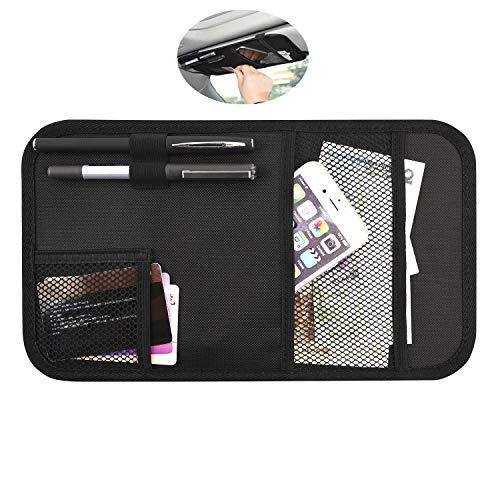 Car Sun Visor Organizer,Visor Panel Bag MOLLE Storage Auto Registration and Insurance Document Holder Pocket Interior Accessories Pen Card Phone Pouch for Car Truck SUV(Large)