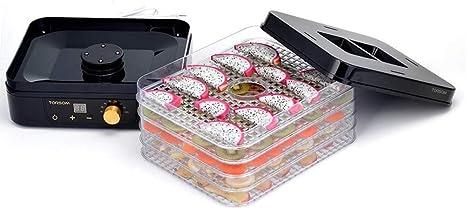Opinión sobre L.TSA Deshidratador de Alimentos Secadora de Frutas, Bandeja de 5 Capas Regulación de Temperatura de temporización Máquina de Alimentos Secos para el Secado de Alimentos, Frutas, 225 w