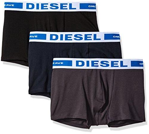 (Diesel Men's UMBX-Korythreepack Fresh and Bright Boxer 3pack, Grey/Blue/Black, M)