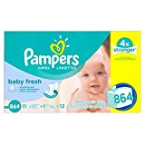 Pampers Baby Wipes Baby Fresh 12X Refill 864 count