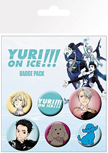Yuri On Ice - 6 Piece Button / Pin / Badge Set (Characters, Logos & Icons)
