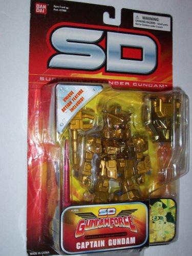 SD Superior Defender Gundam Force Captain System Activated Captain Gundam (All Gold Version)