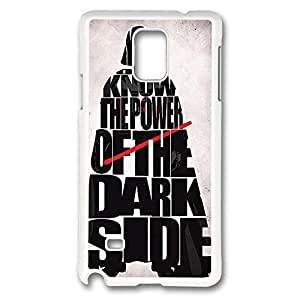 Galaxy Note 4 Case, Creativity Design Power Of The Darkside Ideas Print Pattern Perfection Case [Anti-Slip Feature] [Perfect Slim Fit] Plastic Case Hard White Covers for Samsung Galaxy Note 4