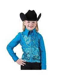 Rod's Girls' Turquoise Lace Sequin Show Vest