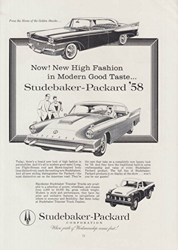 New High Fashion in Modern Good Taste - Studebaker for sale  Delivered anywhere in USA