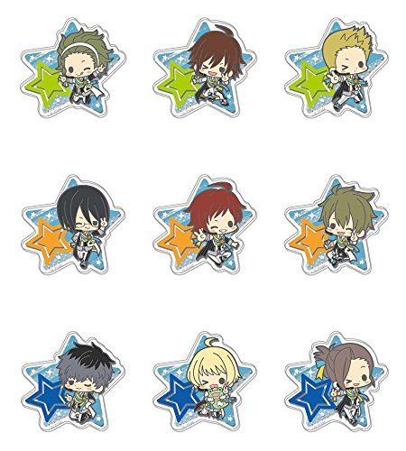 ES Series nino Clear Brooch Collection - Anime The Idolm@Ster SideM vol.1 10Pack Box (10k Brooch)