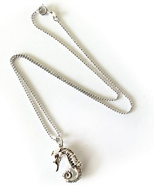 Silver Necklace Animal Lovers Seahorse Pendant