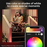 Philips Hue Econic Smart Outdoor White & Color Wall Lantern, Down