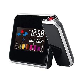 Formulaone Electrónico Digital Pronóstico del Tiempo Reloj Pantalla LCD Reloj Despertador Calendario Proyector Retroiluminación LED Inicio Decoración de ...