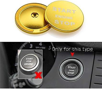 Aluminiumlegierung Motor Start Stop Taste Dekoration Zierblende f/ür Range Rover Discovery Sport//Evoque//Velar//Entdeckung//Vogue//Range Rover Sport//Jaguar E-PACE Black