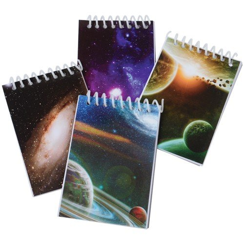 Price comparison product image 2 Dozen (24) GALAXY - Outer Space Mini Spiral NOTEBOOKS Party FAVORS - Science - PLANETS - SOLAR SYSTEM Classroom TEACHER Rewards