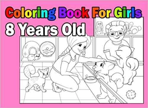 Coloring Book For Girls 8 Years Old: Landscape Format, Coloring Book In:  9781981453719: Amazon.com: Books