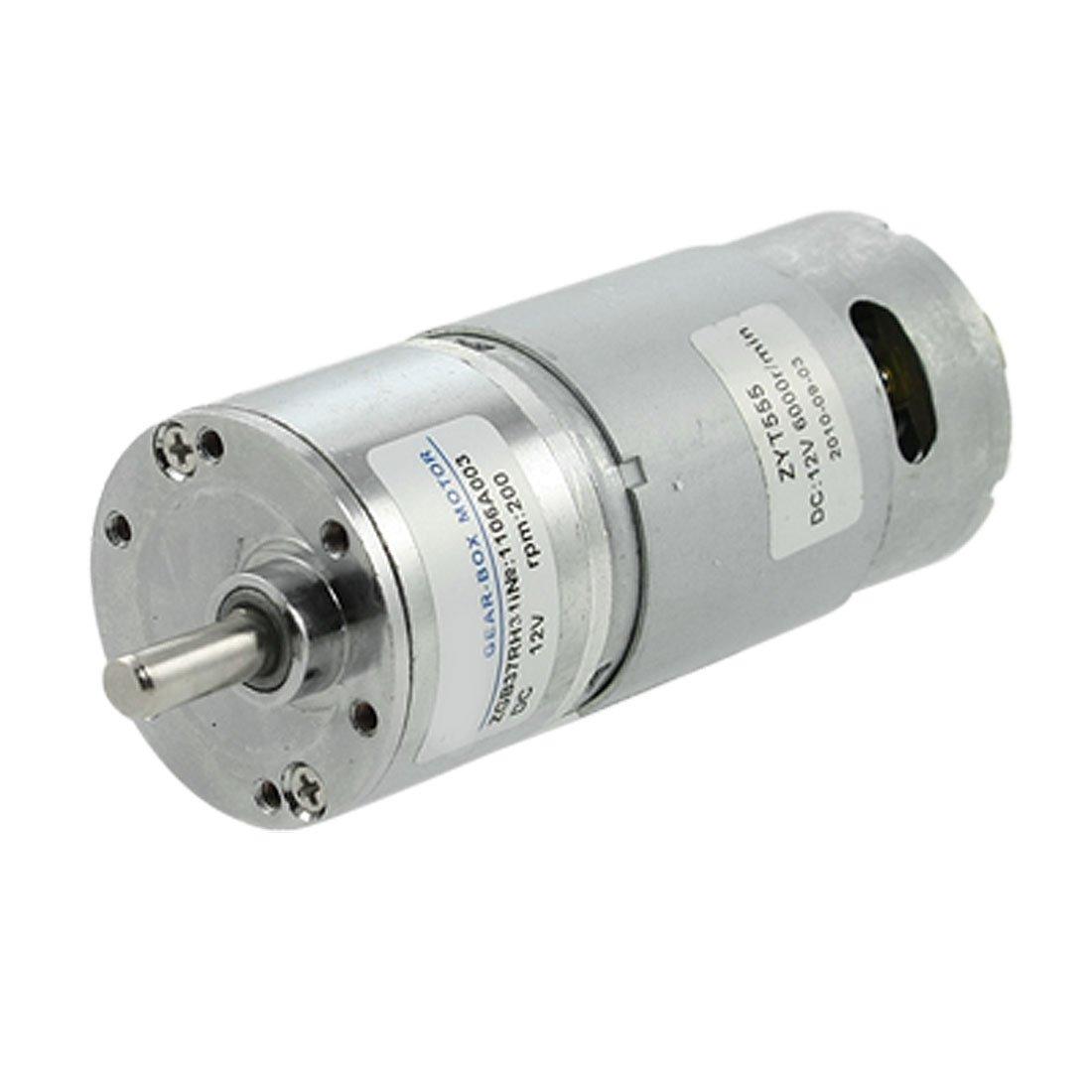uxcell 200RPM 12V 2.1A 5.8Kg.cm Torque DC Geared Motor