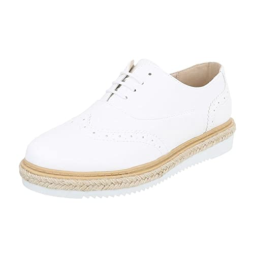 Ital-Design - Zapatillas de casa Mujer , color Blanco, talla 41