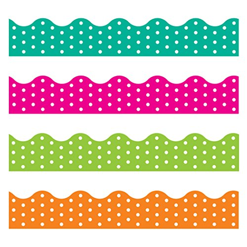 TREND enterprises, Inc. T-92932BN Polka Dots Terrific Trimmers Variety Pack, 156' Per Pack, 2 ()