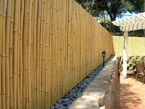 DE-COmmerce Jardín Valla Valla Ocultación Bambú Aty Nature i Jardín, Terraza, Protección de Balcón Bambú con Geschlossenen Tubos i Paravientos Bambú - 100 cm x 250 cm: Amazon.es: Jardín