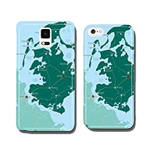 R¨¹gen - Map Legend | Map R¨¹gen | Baltic Sea island cell phone cover case Samsung S6