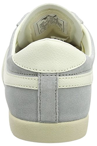 Gola WoMen Bullet Suede Trainers Grey (Pale Grey/Off White)