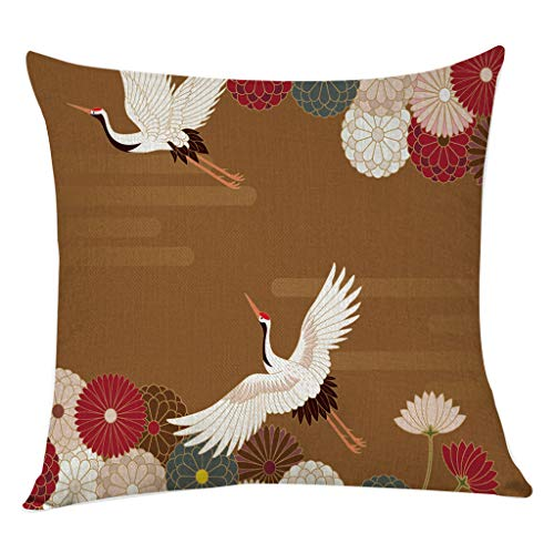 Jessie storee Cotton Linen Pillow Case, Flower