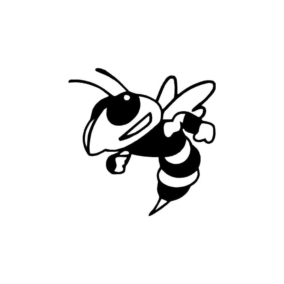 Mean Bee   Mean Hornet   Vinyl Decal Sticker 6 YELLOW