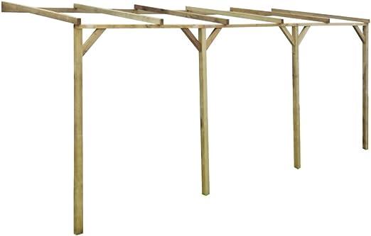 Festnight - Pérgola de madera, cenador para jardín, 2 x 5 x 2, 2 m, tamaño 2 x 5 x 2, 2m: Amazon.es: Jardín