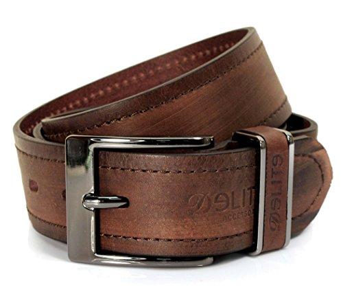 (CM1-142) Mens Dark Brown Belt 100% Real Leather 28,30,32,34,36,38,40,42
