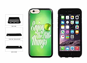 Green Enjoy The Little Things with Apple TPU RUBBER Phone Case Back Cover Apple iphone 6 plusd 5.5 inches screen) includes diy case Cloth and Warranty Label