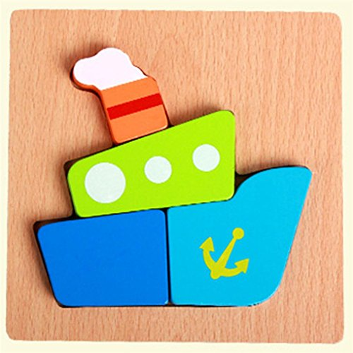 Tetris Green Costumes (PENATE Kids Jigsaw Hand Grasping Puzzle Board Cartoon Wood Three-Dimensional Puzzle Toy)