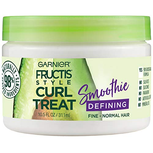 (Garnier Fructis Style Curl Treat Defining Smoothie for Fine to Normal Curly Hair, 10.5 Fl Oz)