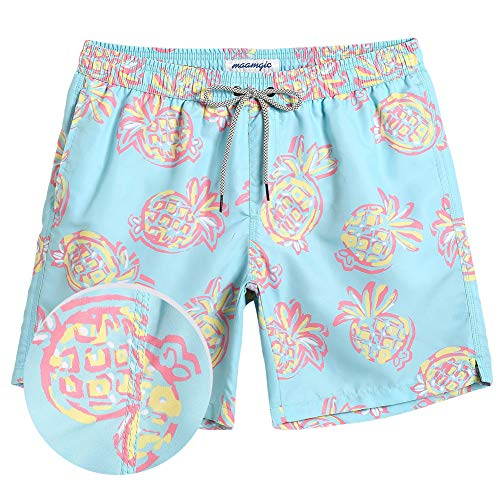 MaaMgic Mens Boys Short Swim Trunks Funny Pineapple Swim Suits Shorts Bathing Suits for -